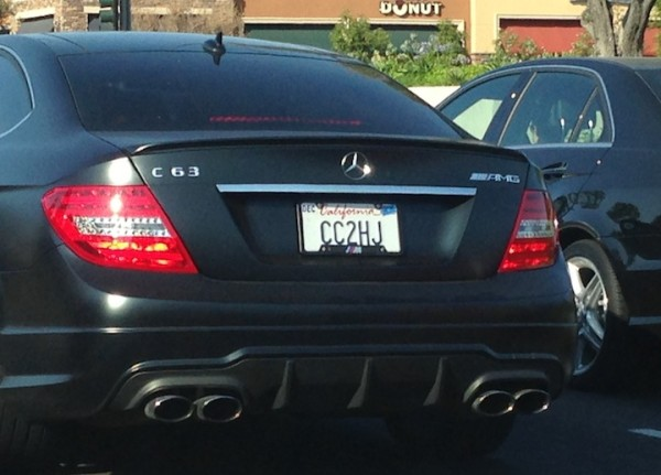 Photo of the Week: C63 AMG with BMW M License Plate Frame - MBWorld