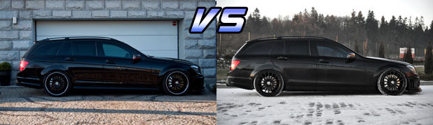 2008 Mercedes-Benz C63 AMG Wagon Black vs Polished Lip