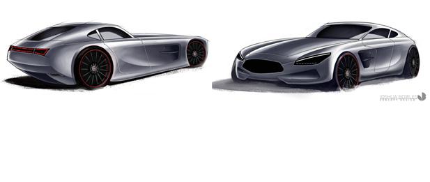 Mercedes-AMG GT Rendering Slider