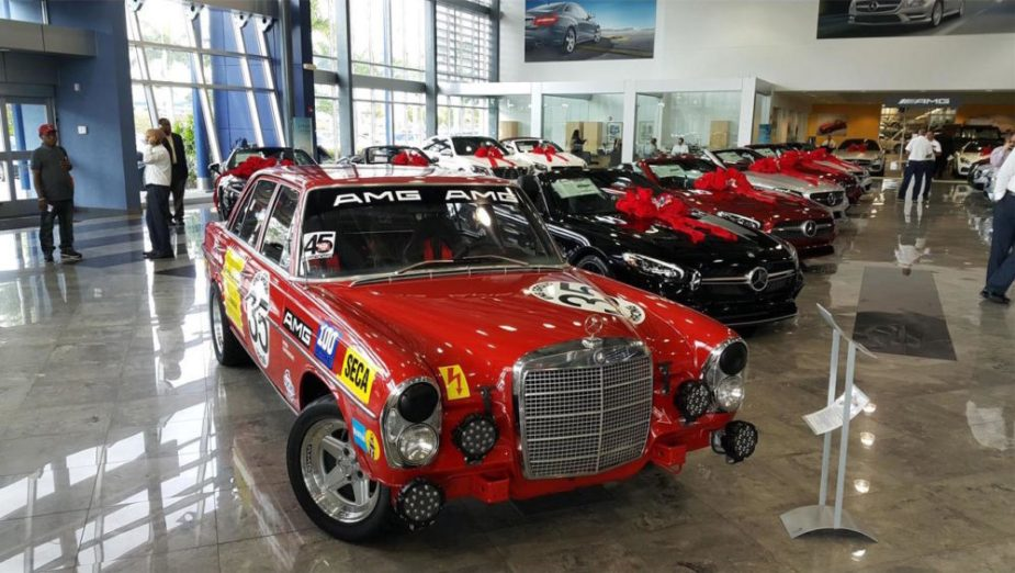 1969 Mercedes-Benz 280S AMG Red Pig tribute