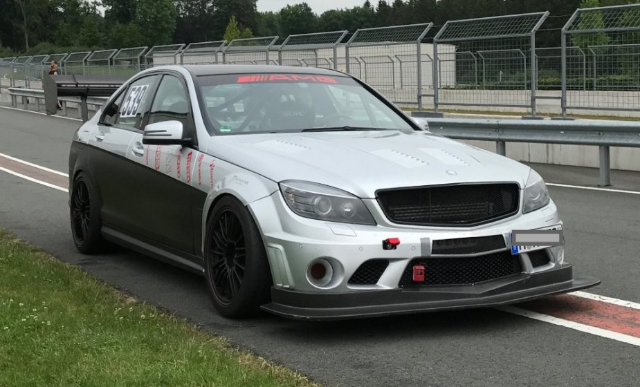 AMG C63 on the Track