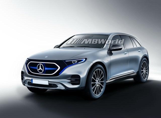 Mercedes Benz EQC Electric SUV Concept Front