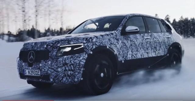 Mercedes-Benz EQC Close in Snow