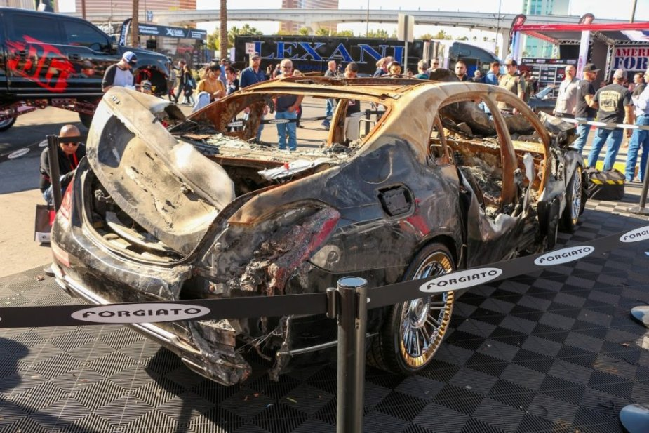 Burned Maybach Rear