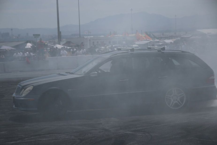 AMG E55 Swinging at Cleetus & Cars Burnout Contest - LS Fest West 2019 Day 1