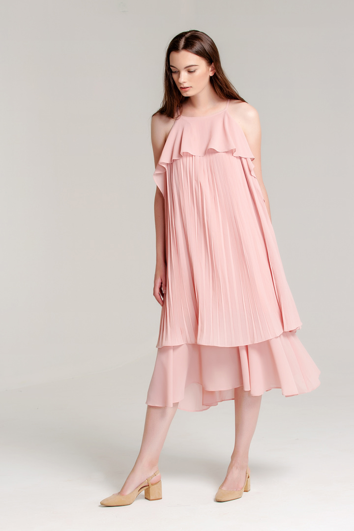 Dusty Pink Contagem Dress