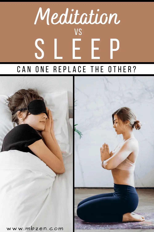 meditation vs sleep