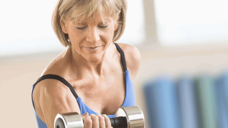 strength training old woman
