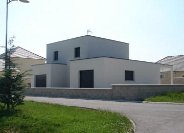 Maison Cubique Moderne Plain Pied   Plan Maison Cubique Gratuit Prix ...