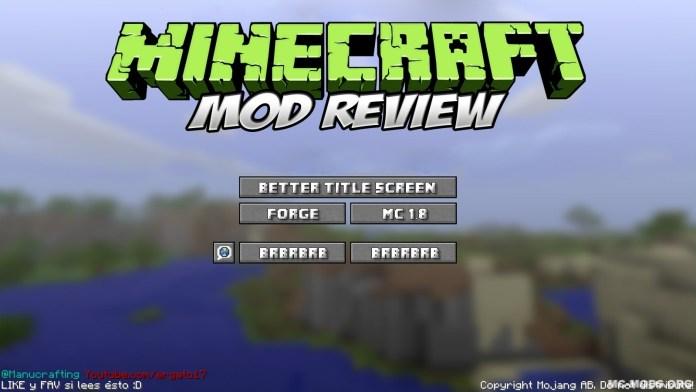 better title screen mod