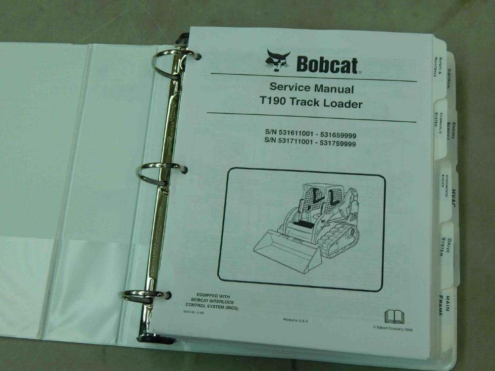 medium resolution of bobcat t190 pn 6904146 track loader service manual