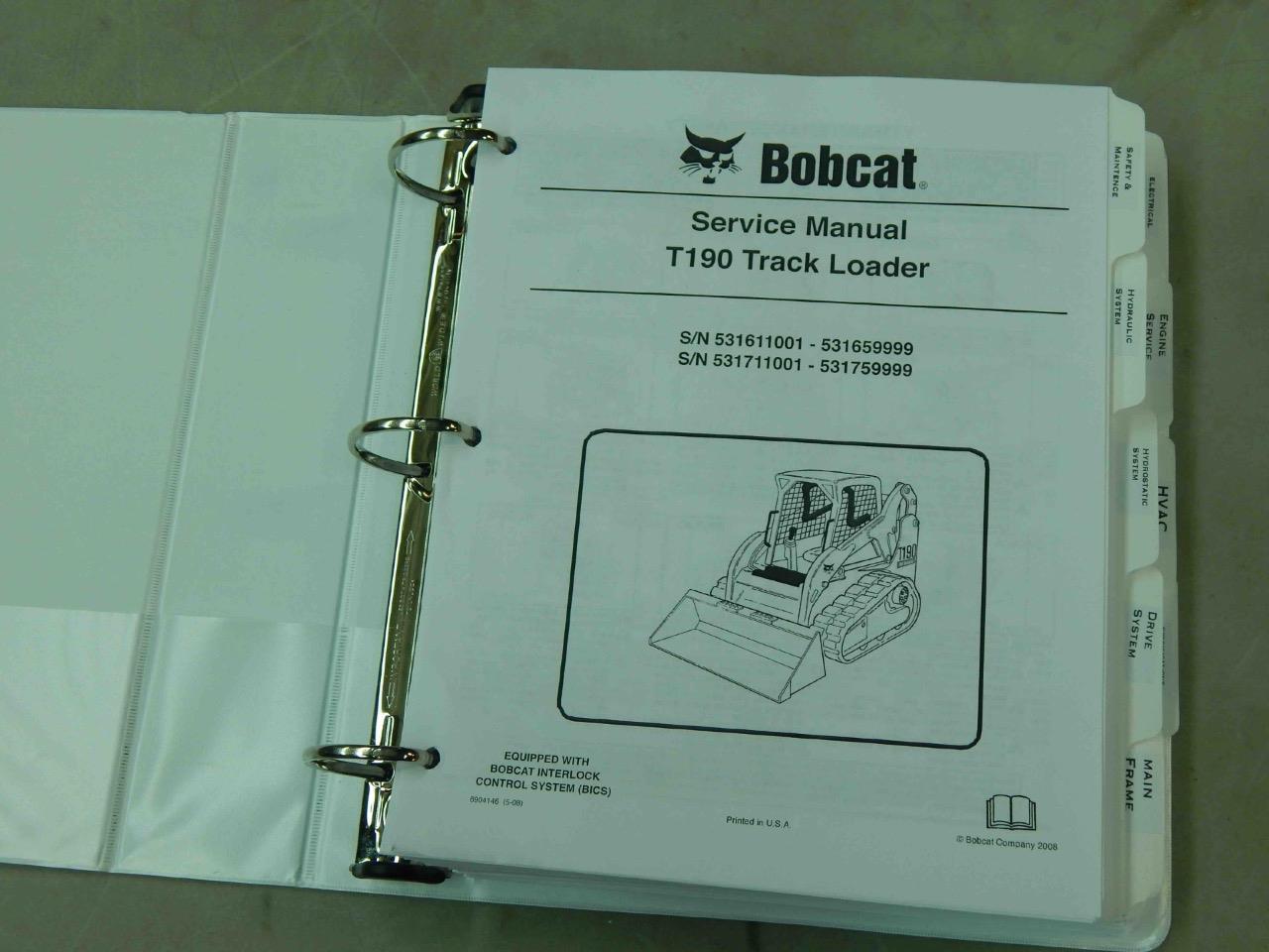 hight resolution of bobcat t190 pn 6904146 track loader service manual