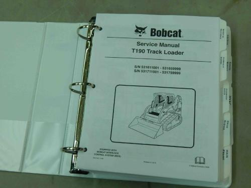 small resolution of bobcat t190 pn 6904146 track loader service manual