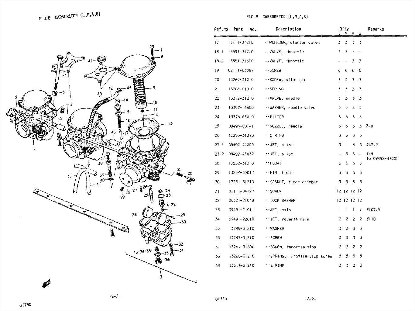 Carburetor Part List Man Cave Amp Mc