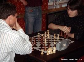 2010-06-02 žaibo turnyras: kova dėl pirmosios vietos; kovoja R. Žebrauskis su S. Zaksaite;