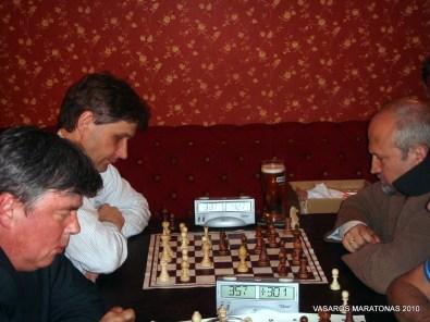 2010-06-09 žaibo šachmatų turnyras: Gediminas Sevrukas; Vygantas Gasiūnas; Gintaras Songaila