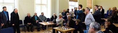žaibo šachmatų turnyras Lietuvos žydų (litvakų) bendruomenėje, skirtas Vasario 16-ajai, Lietuvos valstybės atkūrimo dienai pamineti; blitz chess tournament to mark the 16th of February – State of Lithuania Restoration Day; 2016-02-14 Vilnius