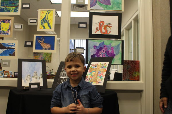 Child at Art Show