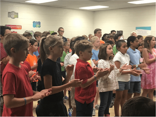 Maranatha - Students learn important principles during worship at Maranatha Christian Academy
