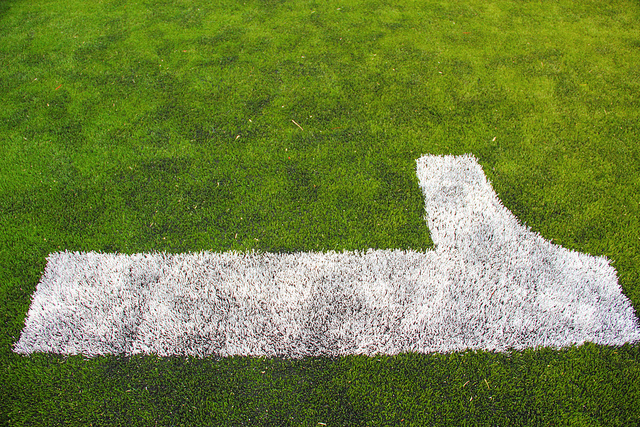 Football field with one on it