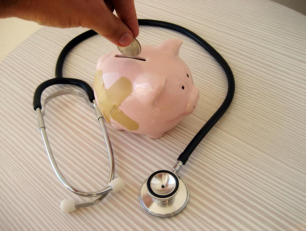 piggy bank w bandage