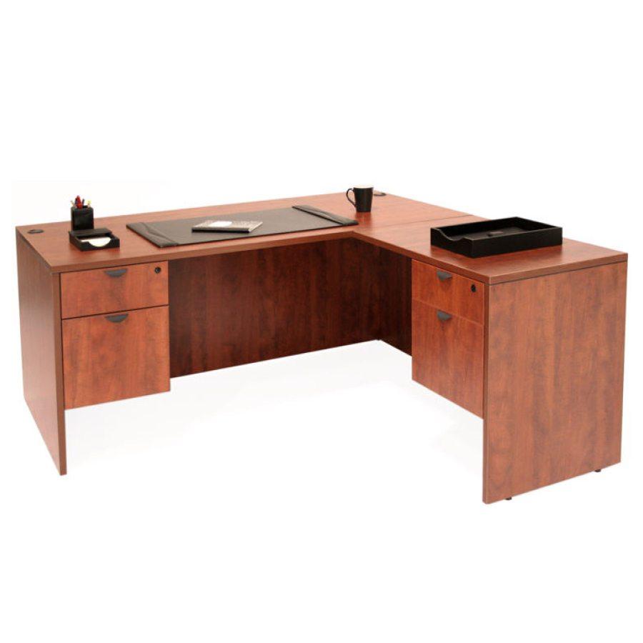66 Laminate LShaped Desk with Hanging Pedestals  8