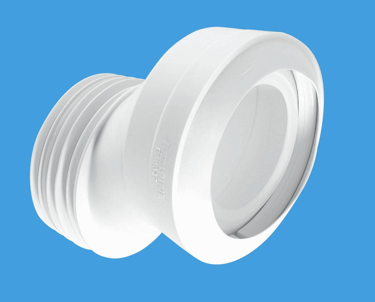 40mm Offset MACFIT WC Connector  McAlpine Plumbing Products