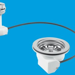 Kitchen Sink Plug Hole Fitting Scrubbers Pop Up Basket Strainer Waste Mcalpine Plumbing Products