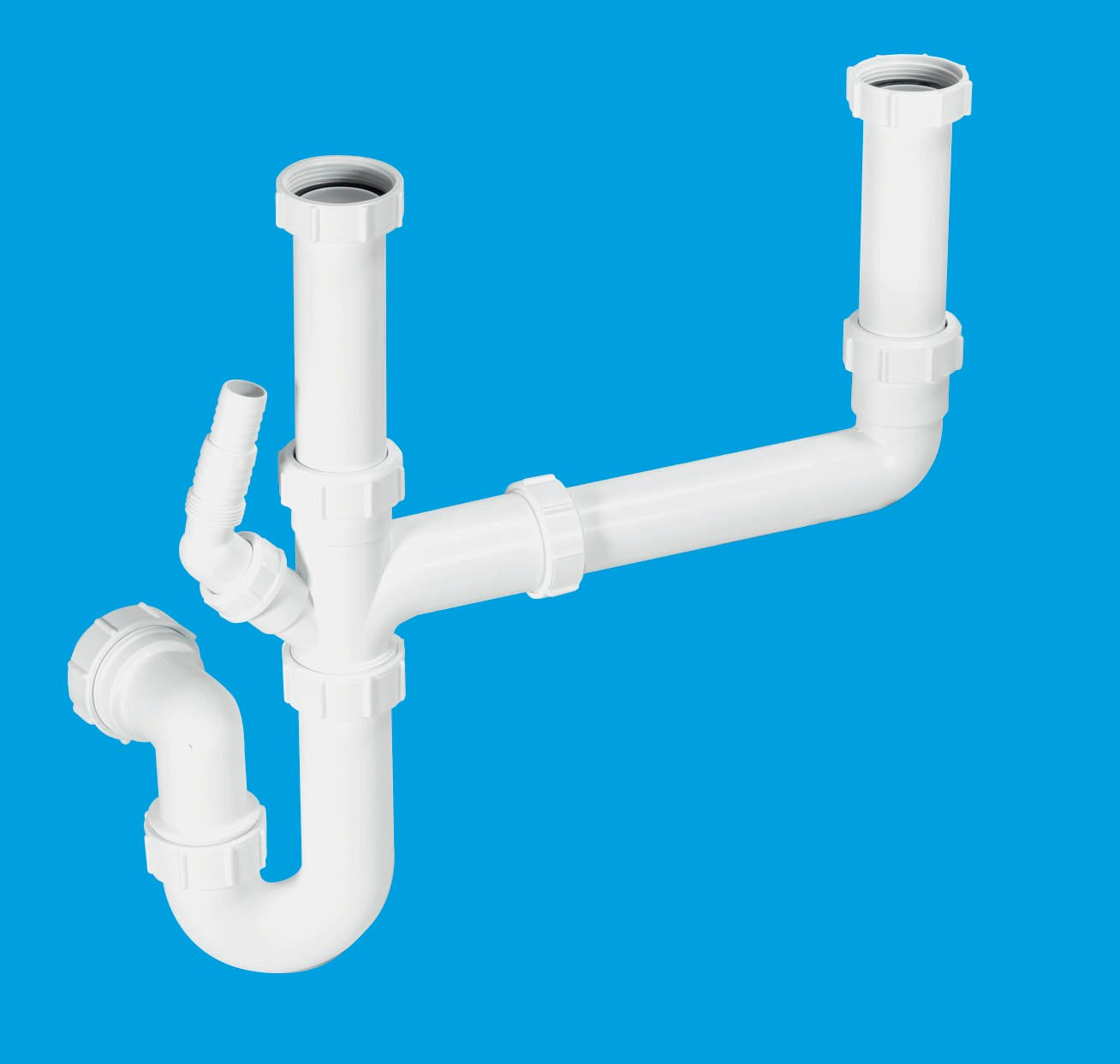 Diagram Of Dual Kitchen Sink Drain Installation