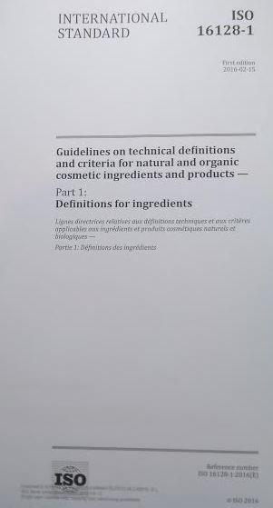 ISO 16128-1: definiciones técnicas para los productos e ingredientes naturales y orgánicos en cosmética