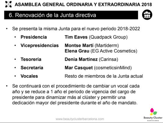 Asamblea General Ordinaria - Nueva Junta BCB