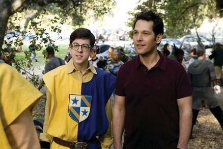 "Christopher Mintz-Plasse and Paul Rudd bond over fake medieval warfare in ""Role Models."""