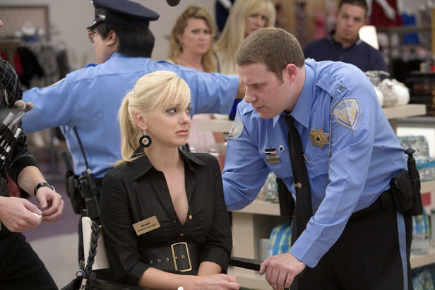 """Seth Rogen and Anna Farris redefine the term """"odd couple"""" in """"Observe and Report."""""""