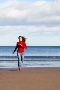 beach, female, fit