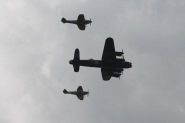 Avro Lancaster B.I & Supermarine Spitfires LF. IXE & LF. XVIE
