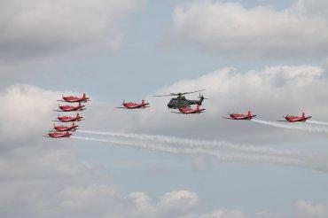 Swiss PC-7 Display Team & Eurocopter AS532UL Cougar