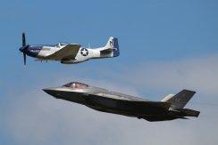 "North American P-51D Mustang ""Miss Helen"" & Lockheed-Martin F-35A Lightning II"