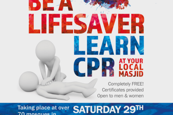 Over 70 mosques across UK will be holding free lifesaving skills sessions