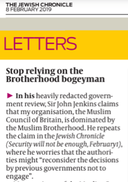 Letter to the Jewish Chronicle