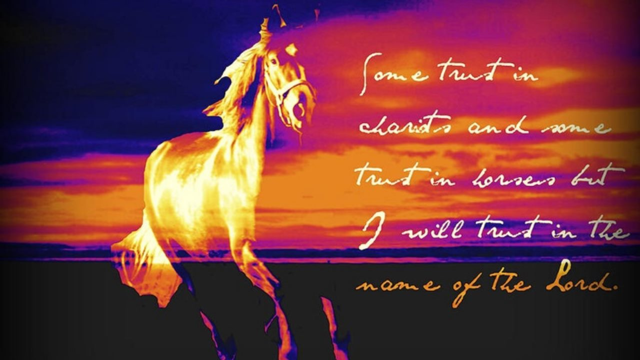 Some Trust in Chariots, Some Trust in Horses, But… Psalm 20:7 (Mandarin)