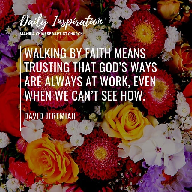 Walking by faith means trusting that God's ways are always at work, even when we…