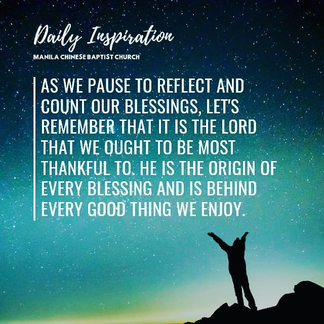 As we pause to reflect and count our blessings, let's remember that it is the LO…