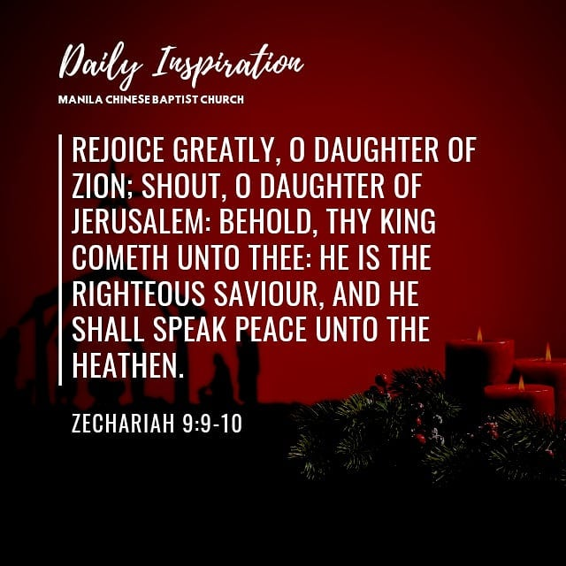 Rejoice greatly, O daughter of Zion; shout, O daughter of Jerusalem: behold, thy…