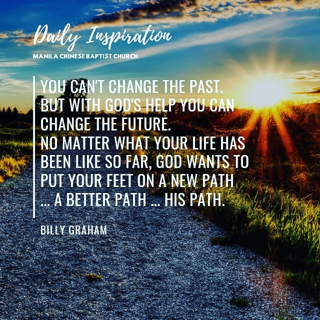 You can't change the past. But with God's help you can change the future. No mat…