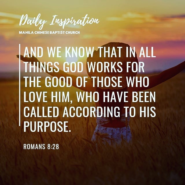 And we know that in all things God works for the good of those who love him, who…