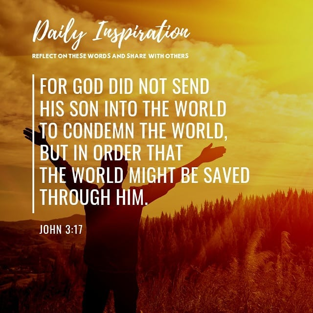 For God did not send his Son into the world to condemn the world, but in order t…