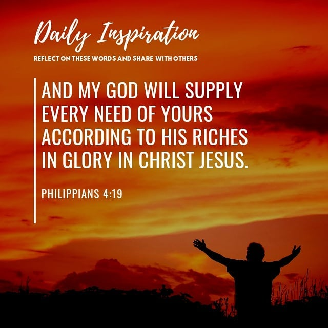 And my God will supply every need of yours according to his riches in glory in C…