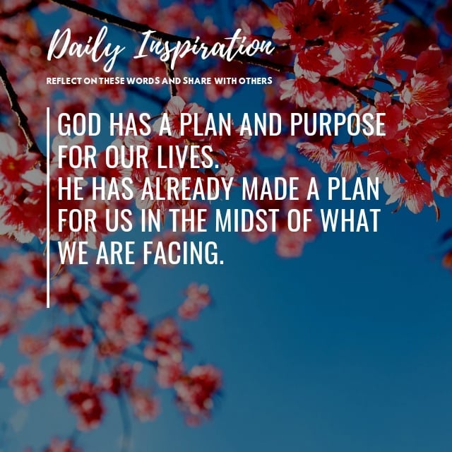 God has a plan and purpose for our lives. He already made a plan for us in the m…