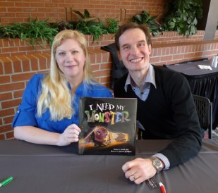 With Amanda Noll at the signing table