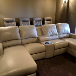 Home Theater Leather Sofa Sofas U Love Santa Barbara Palliser Seating With Media Gorgeous Room